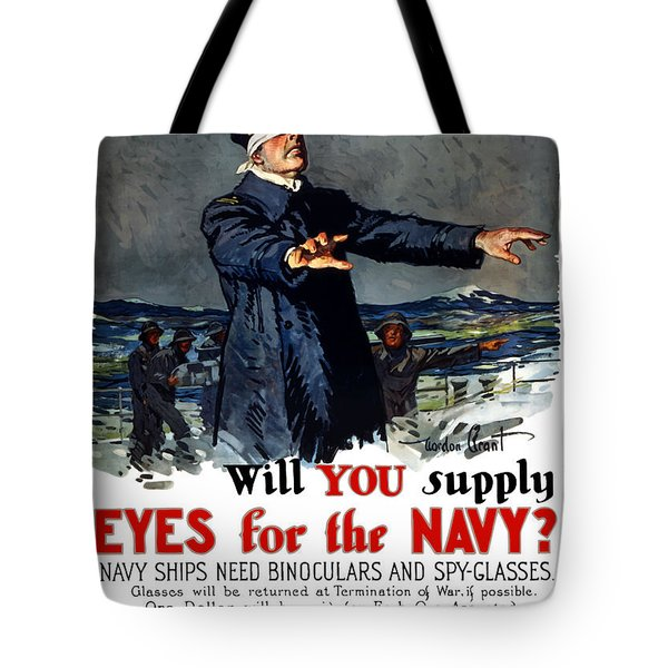 Will You Supply Eyes For The Navy Tote Bag