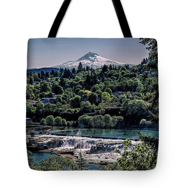 Willamette River Falls Locks Tote Bag