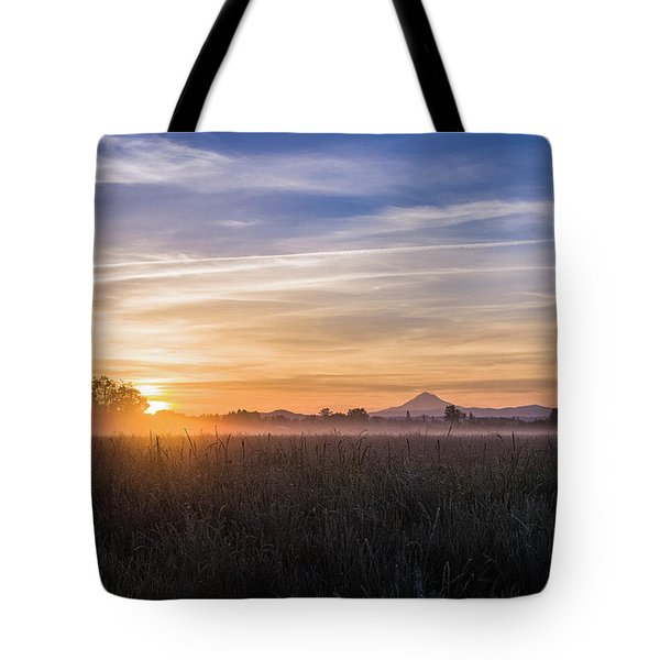 Willamette Valley Sunrise Tote Bag