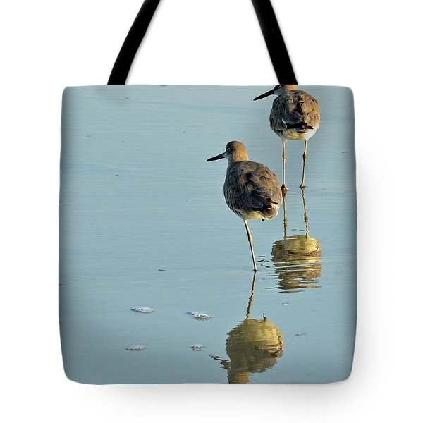 Willets On Jekyll Tote Bag by Bruce Gourley