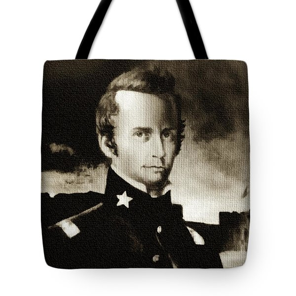 William B Travis - The Alamo Tote Bag by Ian Gledhill