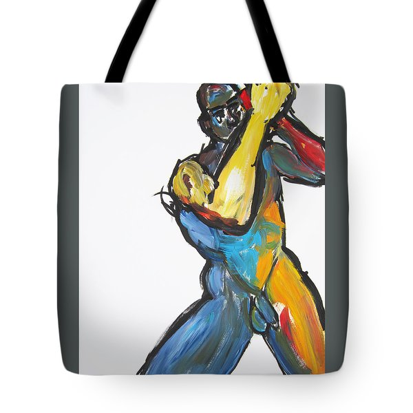 Tote Bag featuring the painting William Flynn Upper Cut by Shungaboy X