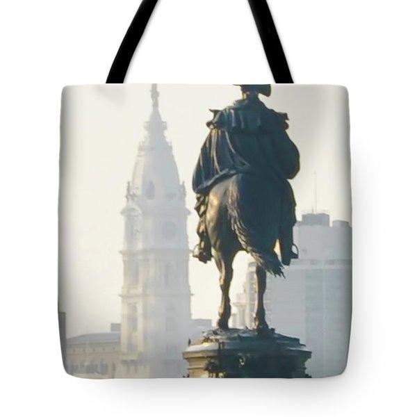 William Penn And George Washington - Philadelphia Tote Bag by Bill Cannon