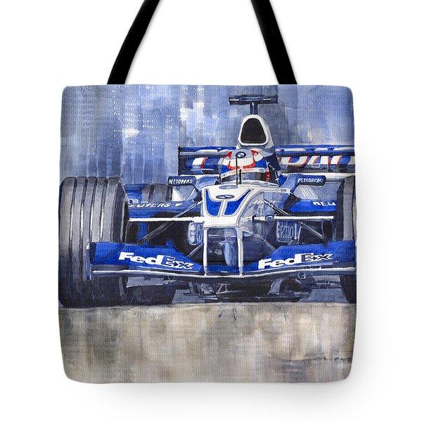 Williams Bmw Fw24 2002 Juan Pablo Montoya Tote Bag by Yuriy  Shevchuk