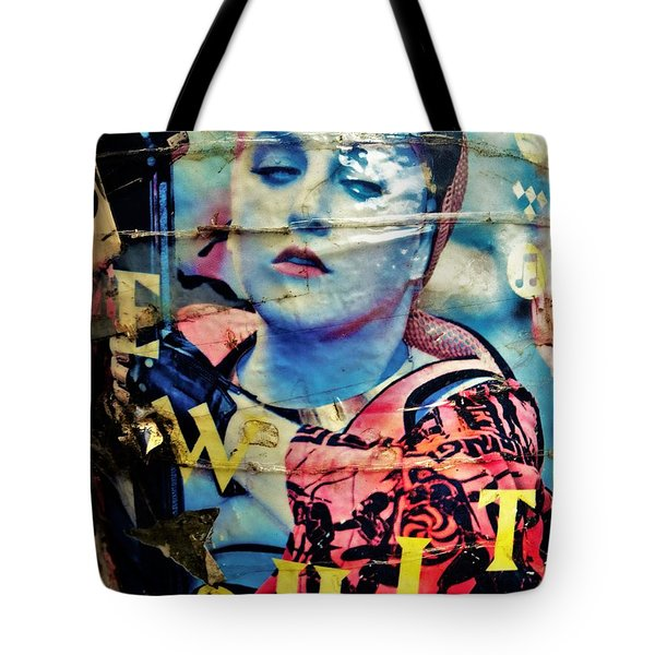 Williamsburg Brooklyn Woman Mural  Tote Bag