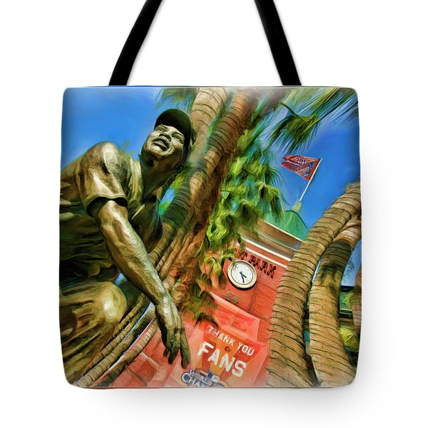 Willie Mays  Tote Bag by Blake Richards