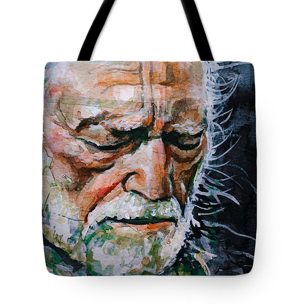 Willie Nelson 7 Tote Bag by Laur Iduc