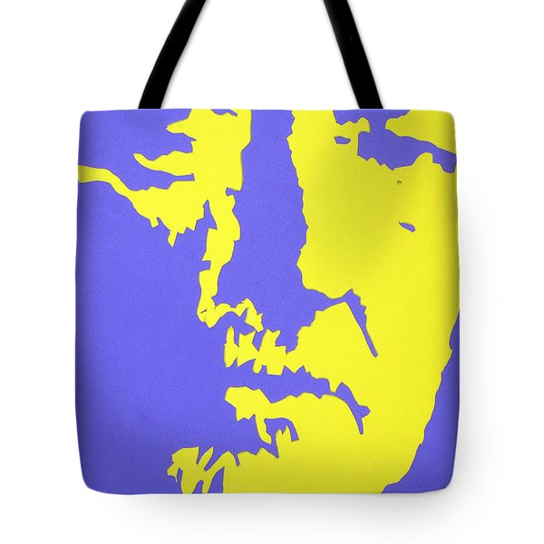 Willie Nelson In The Mirror Tote Bag by Robert Margetts