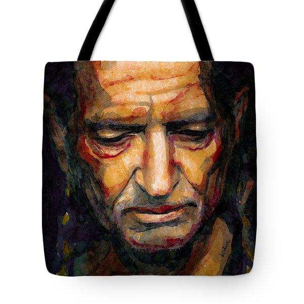 Willie Nelson Portrait 2 Tote Bag by Laur Iduc
