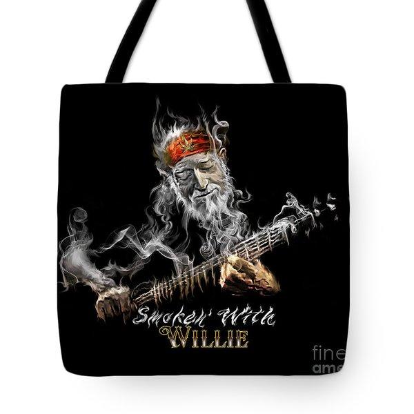 Willie Smoken' Tote Bag