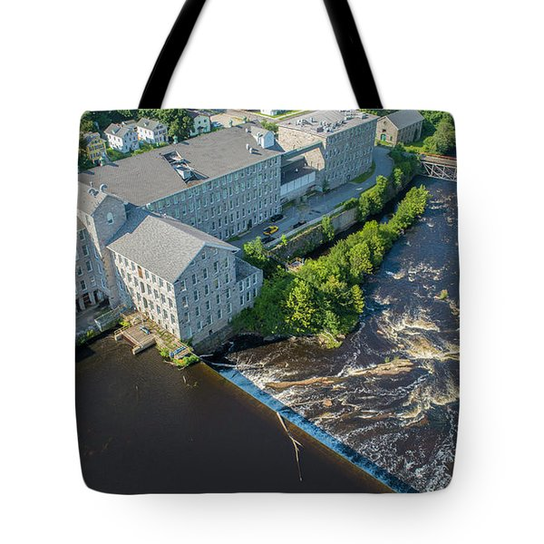 Willimantic River And Mill #2 Tote Bag