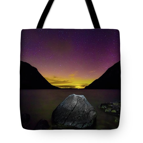 Willoughby Aurora And Boulder Tote Bag by Tim Kirchoff