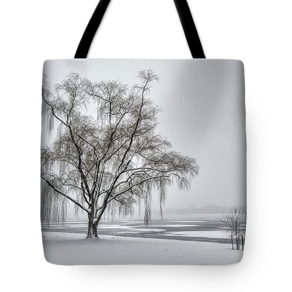 Willow In Blizzard Tote Bag