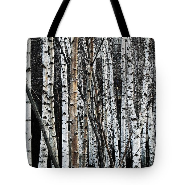Tote Bag featuring the digital art Birch by Julian Perry