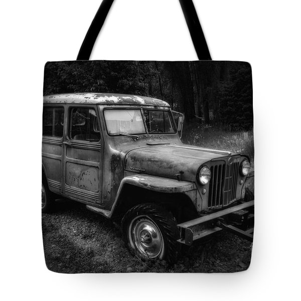 Tote Bag featuring the photograph Willys Jeep Station Wagon by Bitter Buffalo Photography