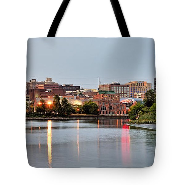 Wilmington Delaware At Dusk Tote Bag by Brendan Reals