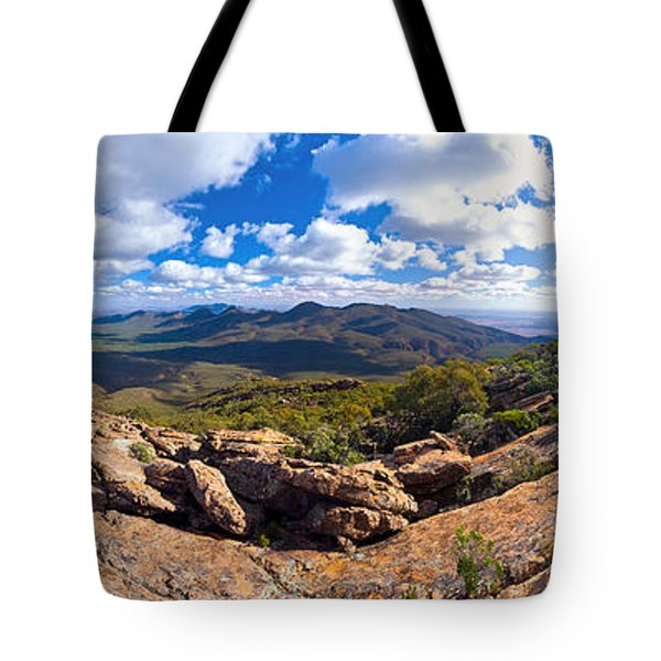Wilpena Pound And St Mary Peak Tote Bag by Bill  Robinson