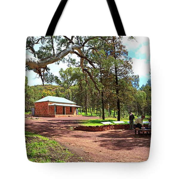 Wilpena Pound Homestead Tote Bag by Bill Robinson