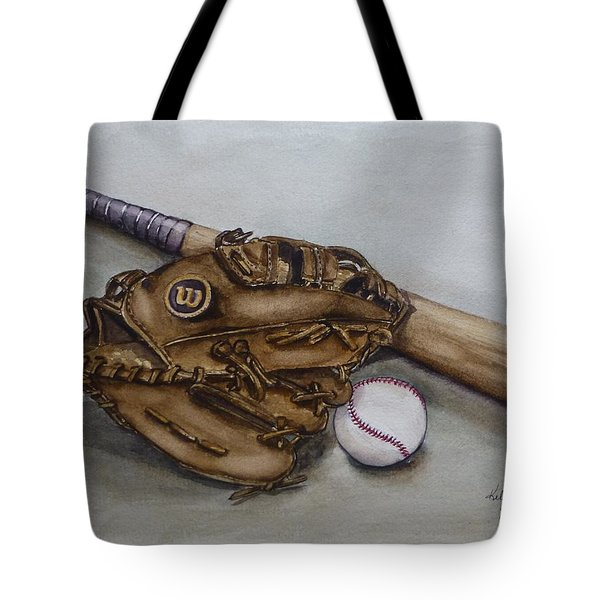 Wilson Baseball Glove And Bat Tote Bag
