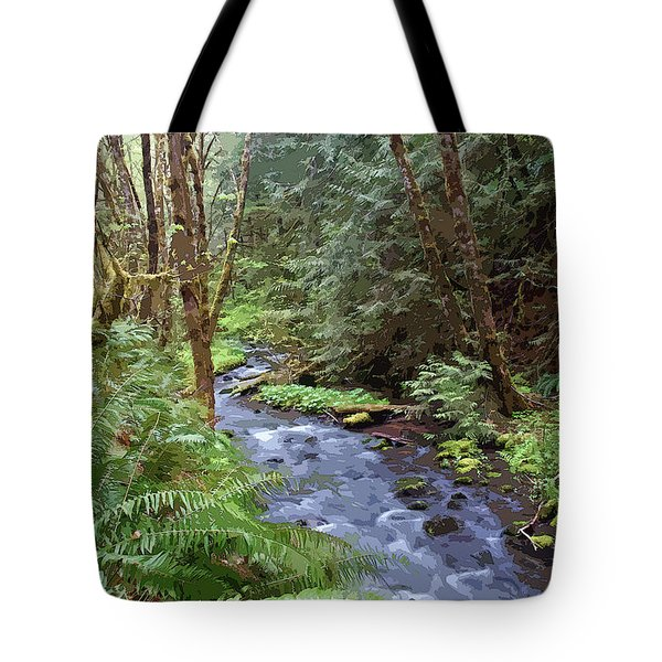 Tote Bag featuring the photograph Wilson Creek #22 Enhanced by Ben Upham III