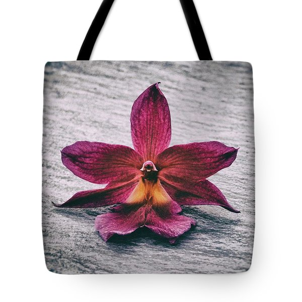 Wilting Orchid  Tote Bag