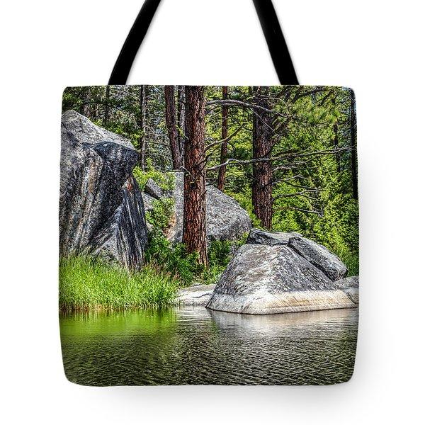 Winchester Lake Rocks Tote Bag