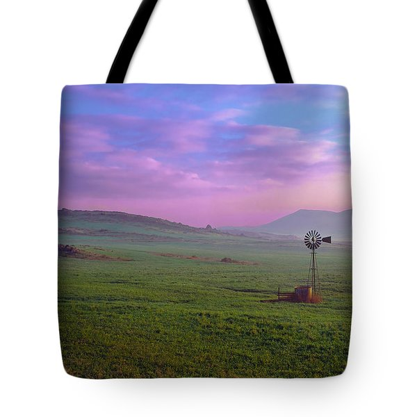 Winchester Windmill Pano View Tote Bag