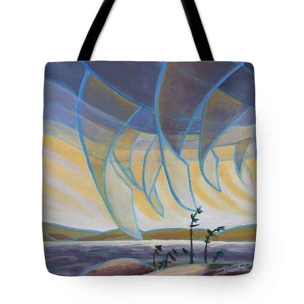 Wind And Rain Tote Bag