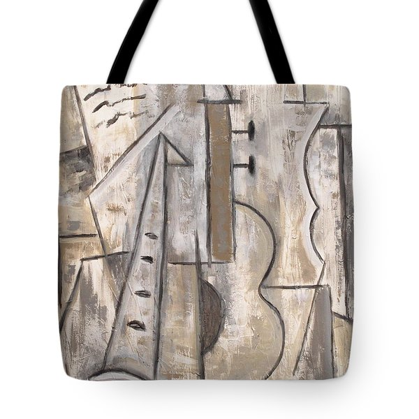 Wind And Strings Tote Bag by Trish Toro