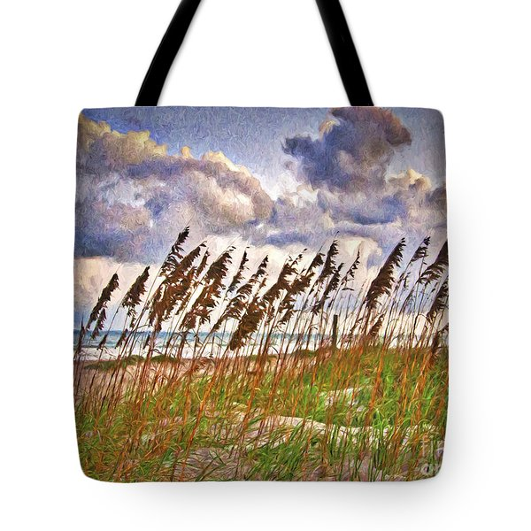Wind And Waves  ... Tote Bag by Chuck Caramella
