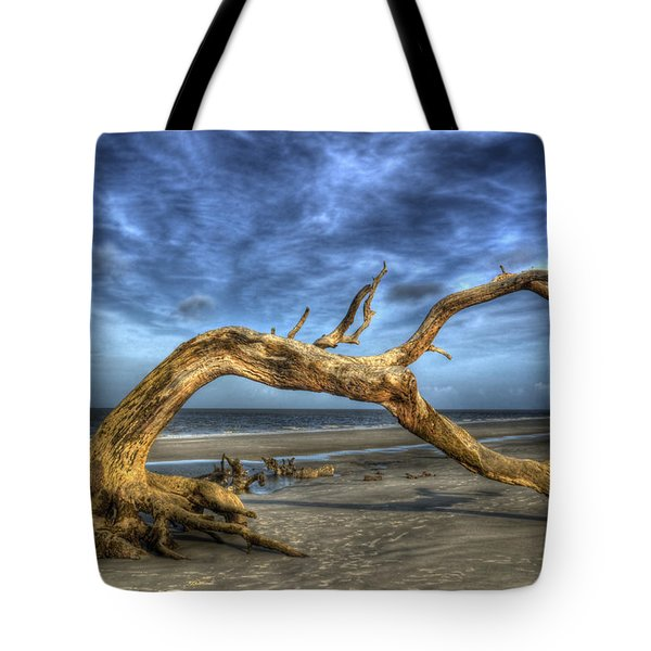 Wind Bent Driftwood Tote Bag
