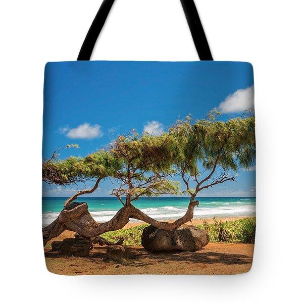 Wind Blown Tree Tote Bag