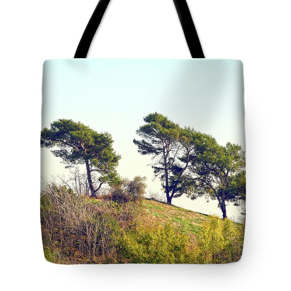 Wind Blown Trees Tote Bag