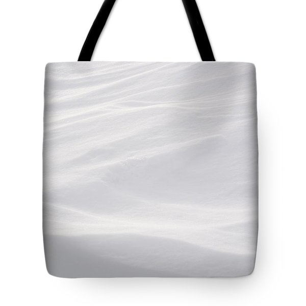 Tote Bag featuring the photograph Wind Carved Snow by Dutch Bieber