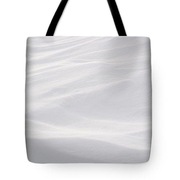 Wind Carved Snow Tote Bag