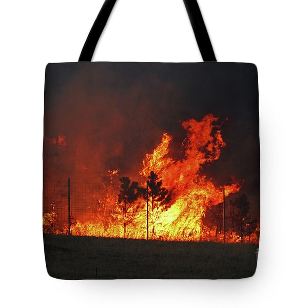 Wildfire Flames Tote Bag