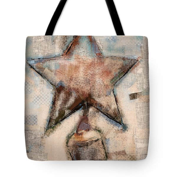 Tote Bag featuring the mixed media Wind Chime by Carrie Joy Byrnes