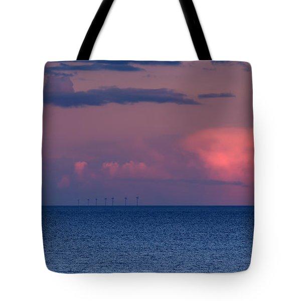 Wind Farm Tote Bag by David  Hollingworth