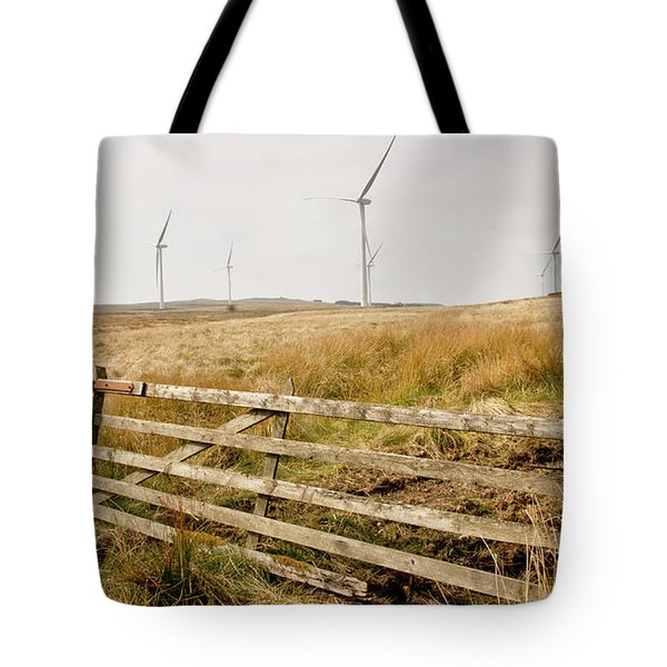 Wind Farm On Miller's Moss. Tote Bag