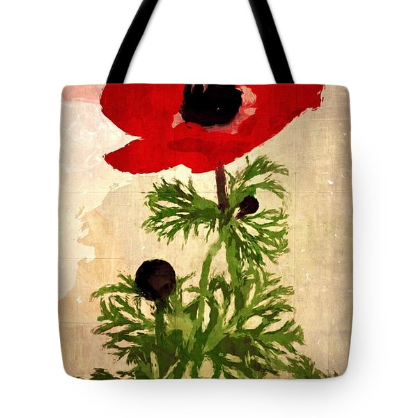 Tote Bag featuring the digital art Wind Flower by Alexis Rotella