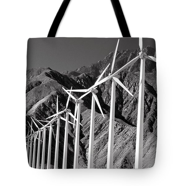 Tote Bag featuring the photograph Wind Generators by Jeff Phillippi