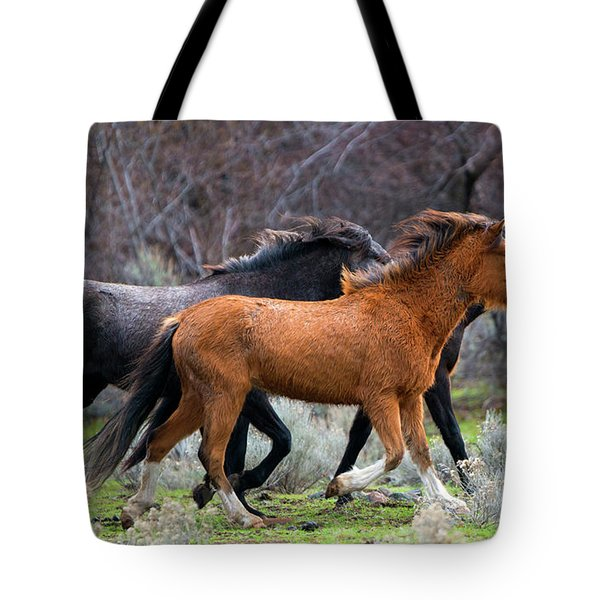 Wind In The Manes Tote Bag