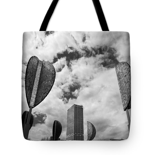 Wind Leaves Tote Bag