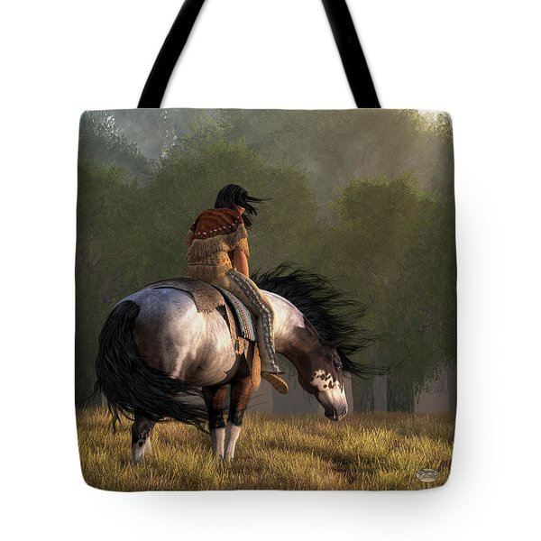 Tote Bag featuring the digital art Wind Of The Forest by Daniel Eskridge