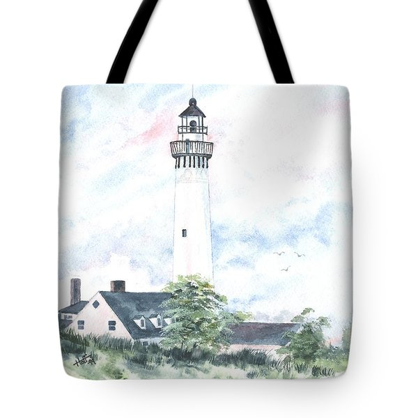 Wind Point Lighthouse Tote Bag by Denise   Hoff