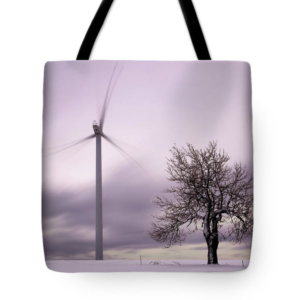 Wind Power Station, Ore Mountains, Czech Republic Tote Bag