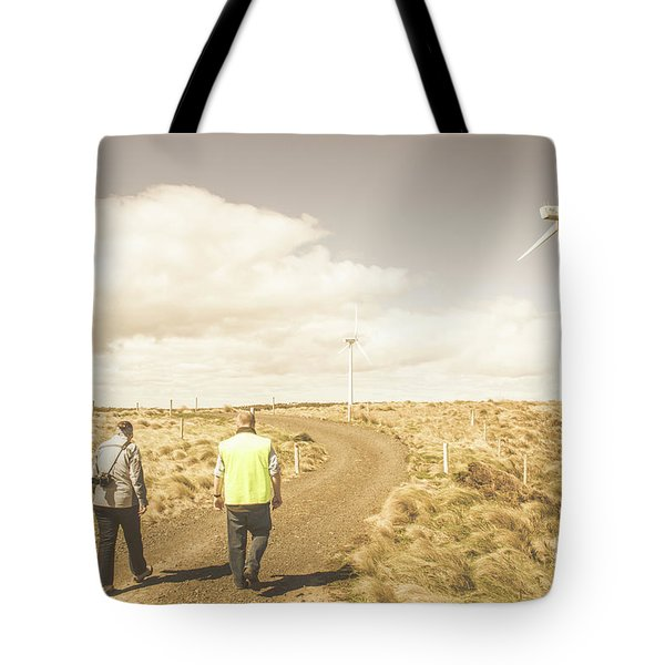 Wind Power Travel Tour Tote Bag