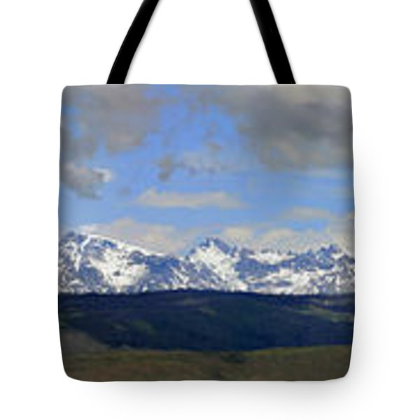 Dm9504-wind River Range Panorama  Tote Bag