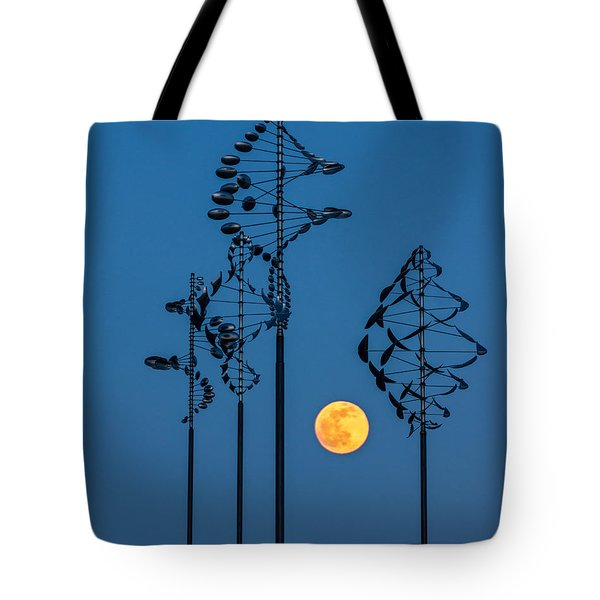 Wind Sculptures At Wilkeson Pointe Tote Bag
