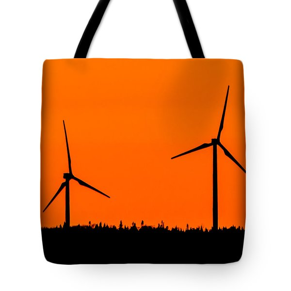 Wind Silhouette Tote Bag